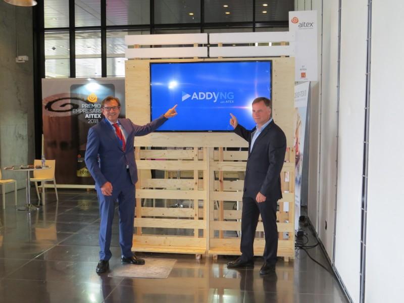 El president i el director d'Aitex presenten la plataforma digital ADDYNG with Aitex / Aramultimèdia