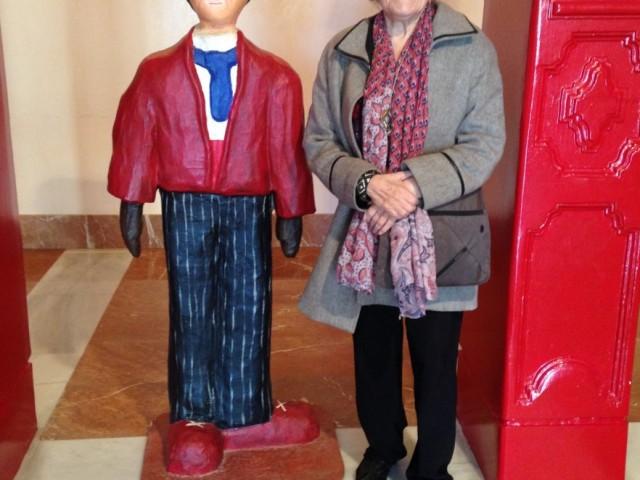 Isabel Clara-Simó en una visita a Alcoi