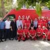 Oltra, amb els voluntaris d'ACIF-Alcoi
