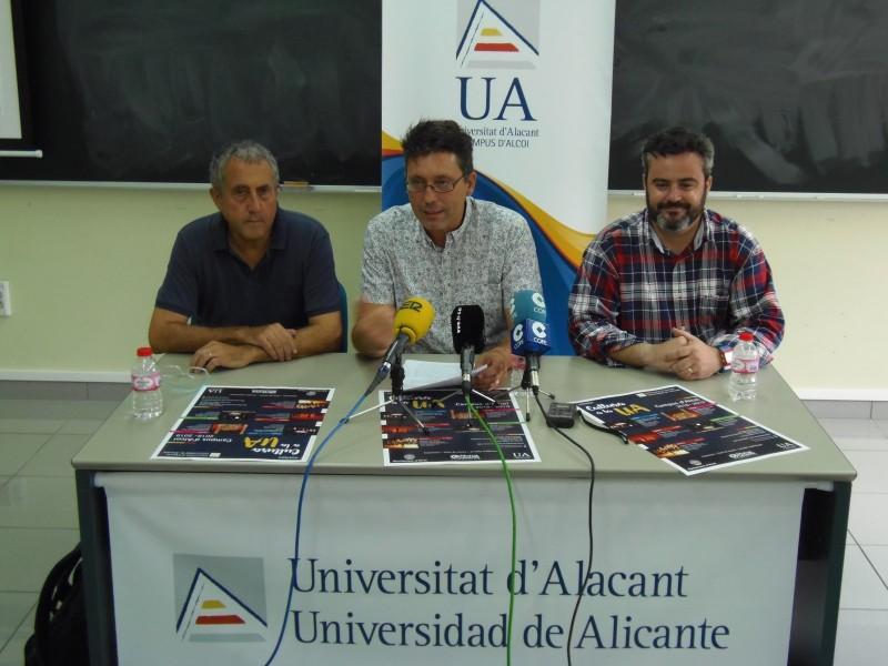 Imatge de la roda de premsa, a les instal·lacions de la UA en la Cámara de Comercio / AM