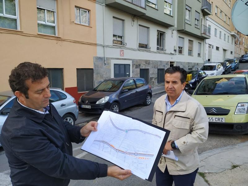 Rafa Miró i Edu Tormo expliquen les propostes al Bulevard en el mateix carrer Reconquista