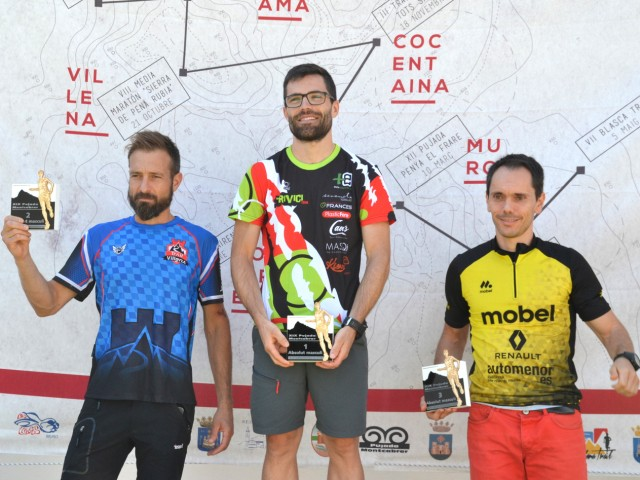 Els tres primers classificats en categoria masculina