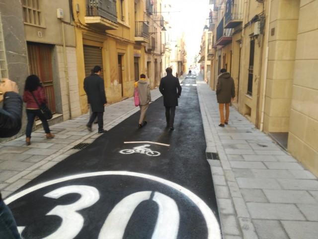 Obri al trànsit el carrer Sant Jaume