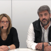 La regidora de Comerç i el president de la Cambra de Comerç presenten la iniciativa en roda de premsa.