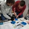 Estudiants d'enginyeria informàtica francesos treballen amb la UPV Campus d'Alcoi a la Fira de Cocentaina
