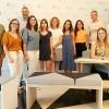 Els estudiants que participaran al NUDE 2018, amb els responsables del Saló NUDE i el campus d'Alcoi de la UPV