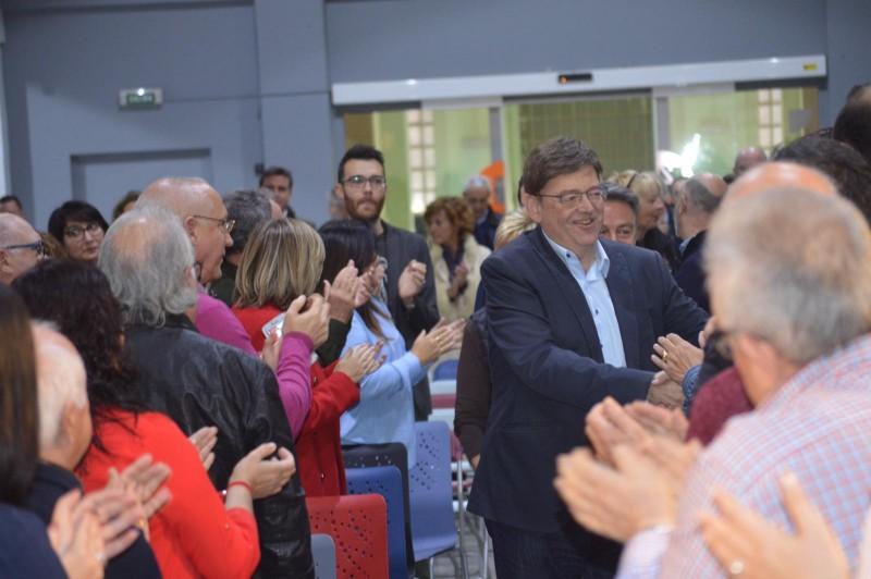 El President Puig s'adreça als assistens en l'Àgora.