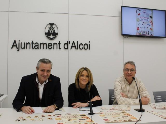 Rafael Pérez, Vanessa Moltó i Paco Moltó / Ajuntament d'Alcoi