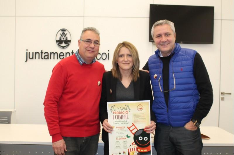 Rafa Pérez, Vanessa Moltó i Paco Moltó presenten la campanya / Ajuntament d'Alcoi