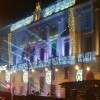 Prova de l'espectacle de llums, la nit d'abans a la festa de Cap d'Any