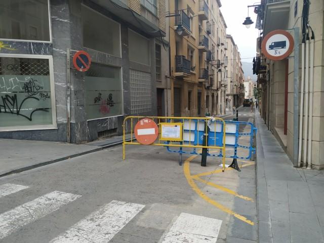Comencen les obres al carrer Sant Jaume