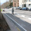 El carril bici al barri de la Zona Nord