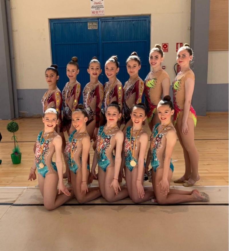 Gimnastes del CGR Sant Jordi / Foto facilitada pel club