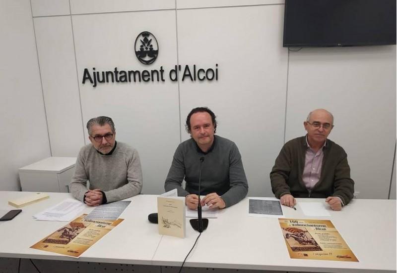 Jordi Abad (esquerra), Màrius Ivorra (centre) i Paco Blay (dreta).