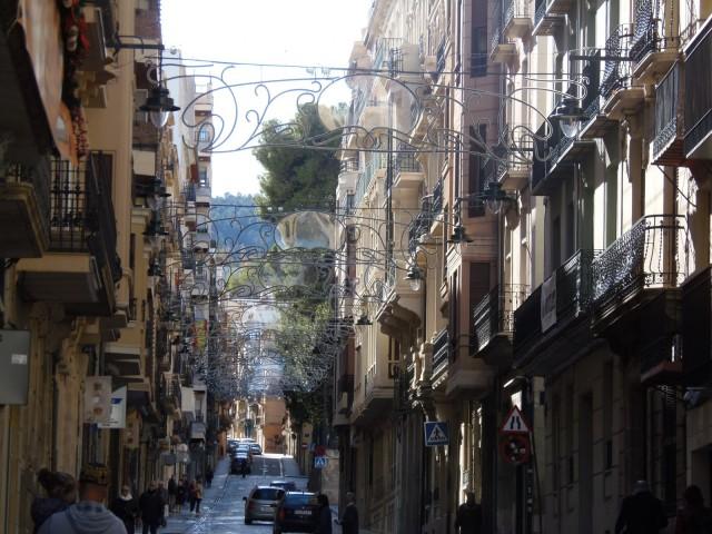 Enramada de propietat municipal, instal·lada des d'aquest 3 de desembre a Sant Nicolau.