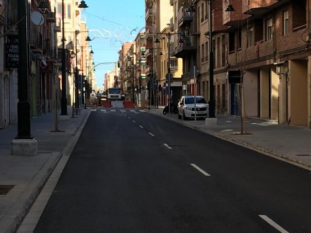 L'últim tram d'Entença podria obrir al trànsit el dia 9 de gener