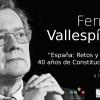 FernandoVallespínestarà a Alcoi per parlar dels 40 anys de la Constitució