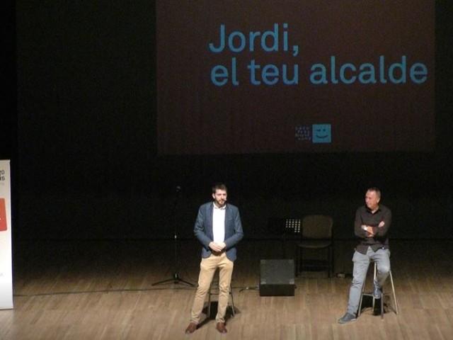 Jordi Pla amb Joan Baldoví en l'acte   / R. Lledó