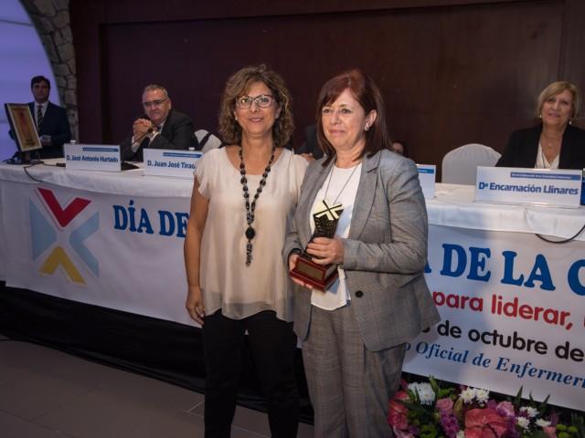 Josefa Inés Santamaría a l'acte d'entrega del premi.