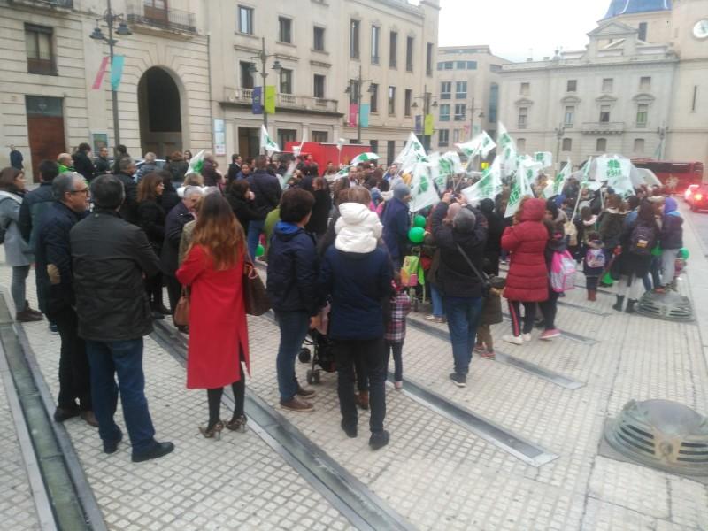 Manifestació convocada a la plaça d'Espanya el passat 15 de novembre en contra de les retallades.