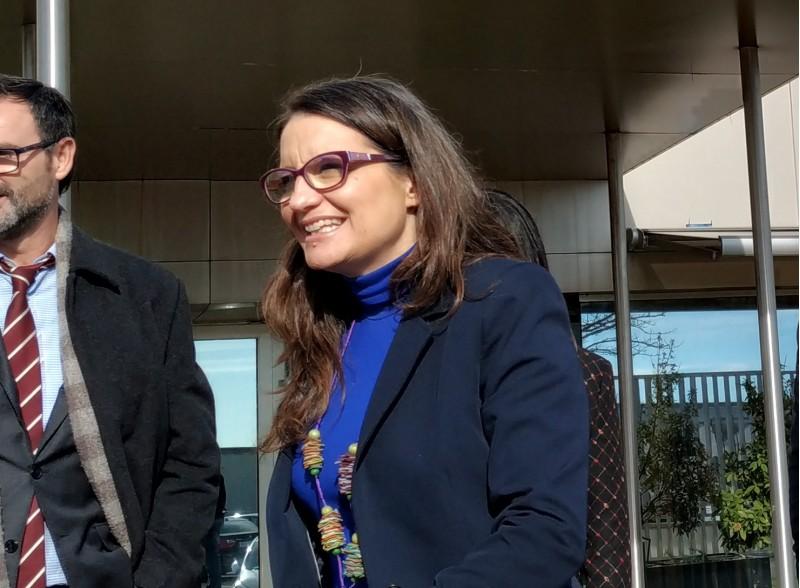 Mónica Oltra, en la seua visita hui a les nostres comarques