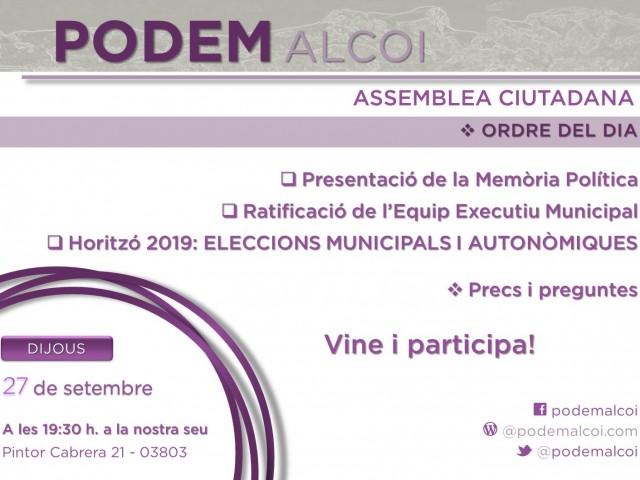 Podem Alcoi també posa damunt la taula les eleccions del 2019
