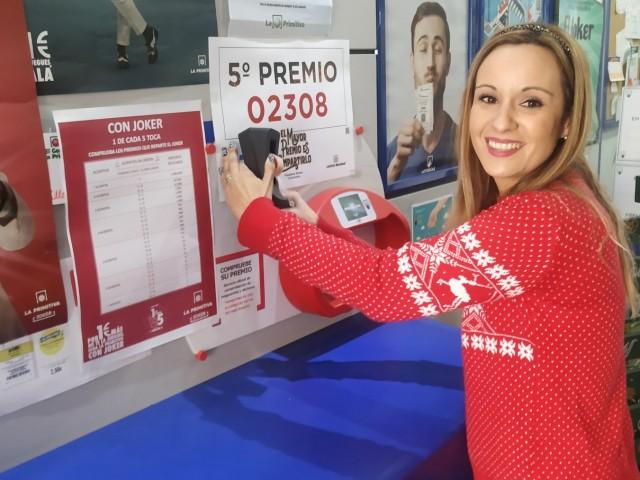 Les nostres comarques pillen un poc de la loteria de Nadal amb dos dècims del quint premi venuts a Alcoi i Cocentaina