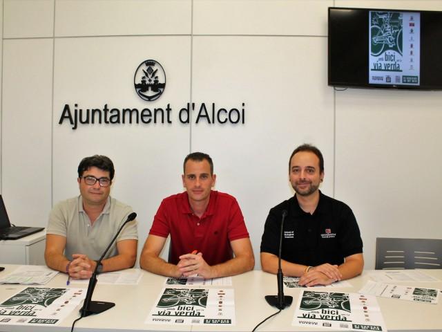 Regidors d'Esports de Cocentaina, Alcoi i Muro. Saül Botella, Alberto Belda i Eli Pérez/ Ajuntament d'Alcoi