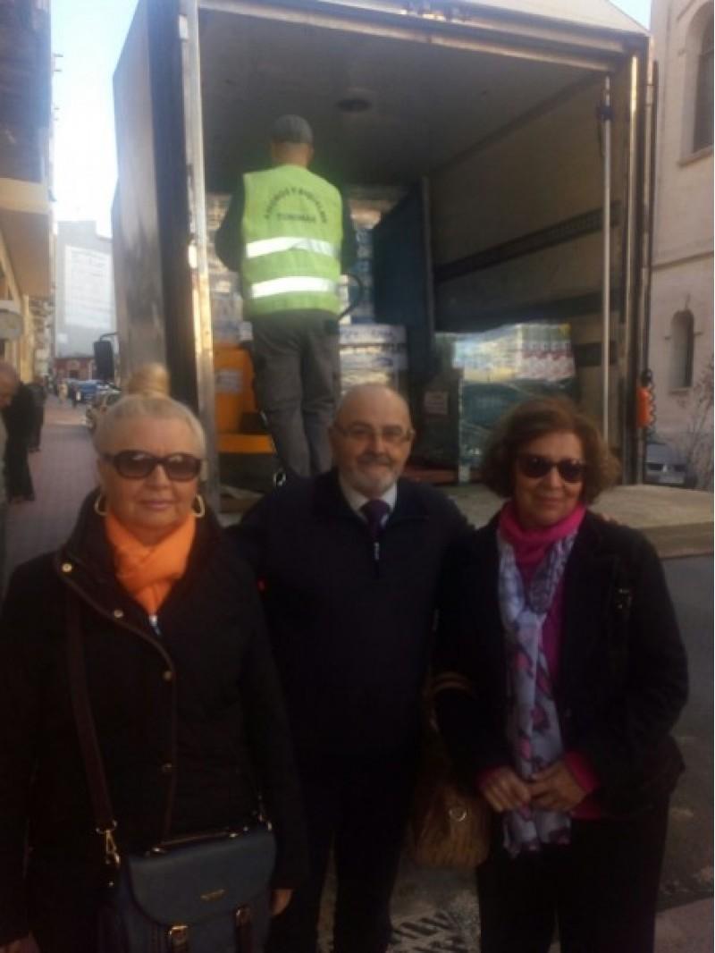 Amb el responsable de Cáritas Alcoi, sr Tortosa