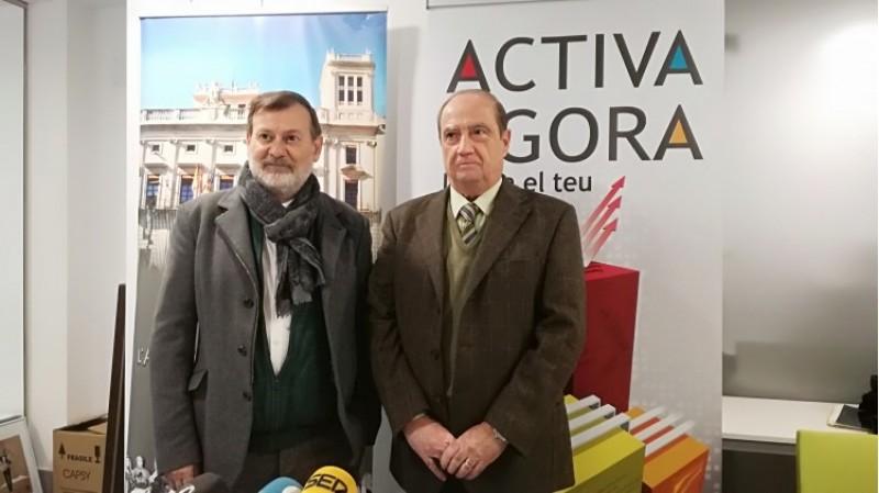 El regidor Manolo Gomicia i el director del CEEI Jesús Casanova, presenten el programa ACTIVA ÁGORA