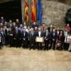 Familiars, amics i membres de la corporació acompanyaren a ACIF Alcoi al Palau / GVA