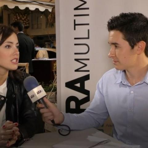 Mireia Estepa durant l'entrevista amb ARAMULTIMÈDIA