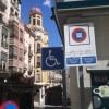 Imatge de la zona blava al centre d'Alcoi