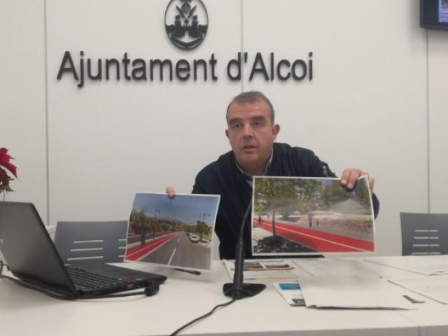 Alcoi demana diners per a fer una ruta per a ciclistes i vianants que travesse la ciutat