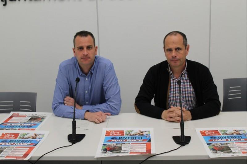 Alberto Belda i Paco Alfaro presenten la cursa d'obstacles / Ajuntament d'Alcoi