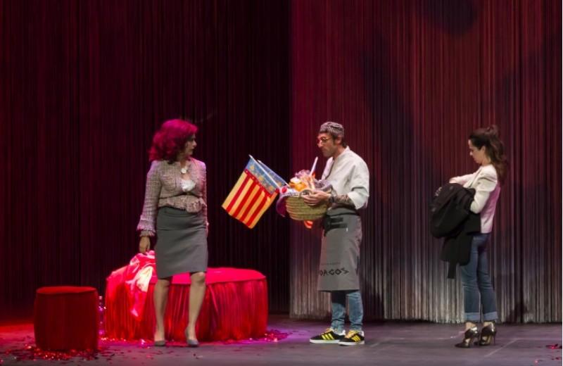 Willkommen Merkel, a la Mostra de Teatre d'Alcoi