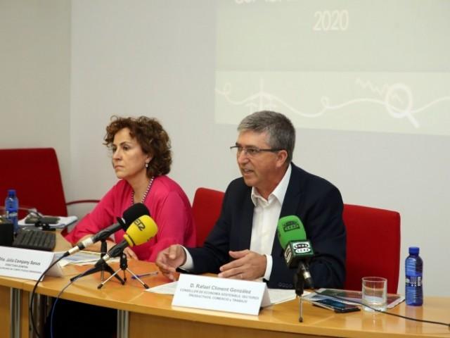 El conseller d'economia Rafa CLiment, i l a directora de l'IVACE Julia Company