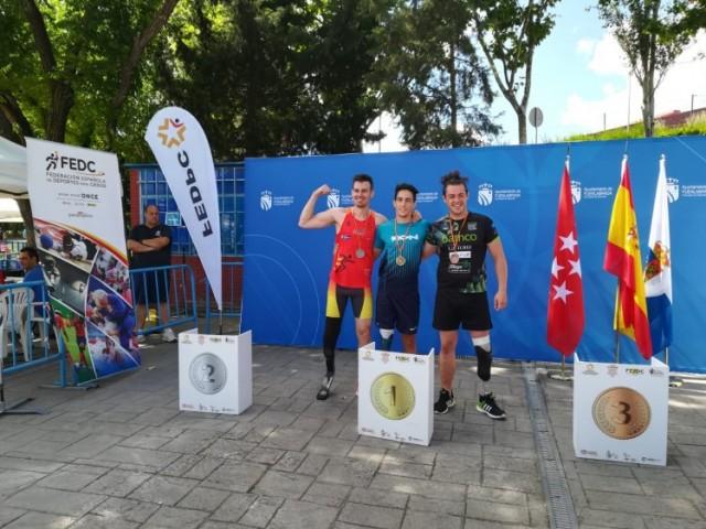 Alejandro Marín al Campionat d'Espanya d'Atletisme Adaptat