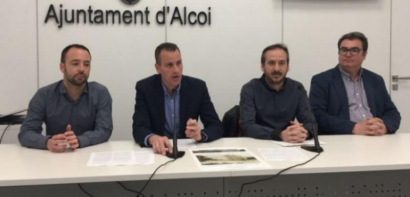 Jaume Sanjuan, Alberto Belda, Juan Antonio Recuerda i Jesús Martínez presenten el Pla / R. Lledó