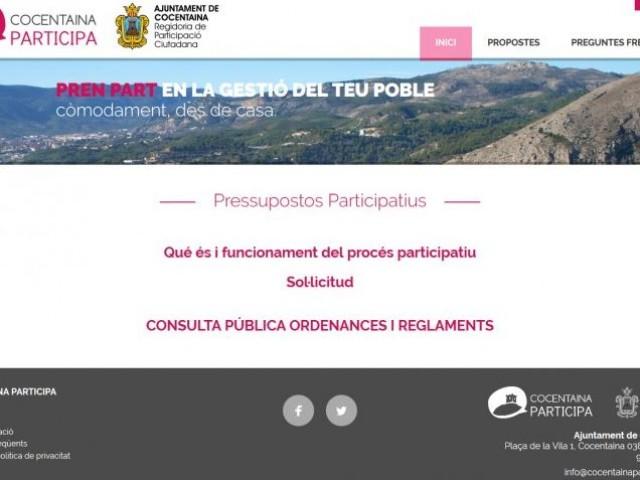 plana web de cocentainaparticipa.com