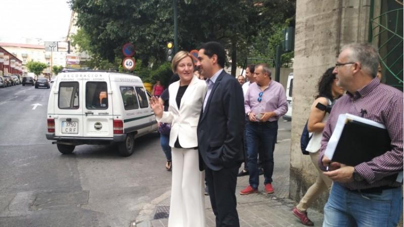 Visita a Entença de la consellera i l'alcalde Toni Francés/AM