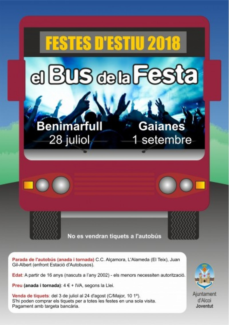 Cartell bus de Festa/Ajuntament d'Alcoi