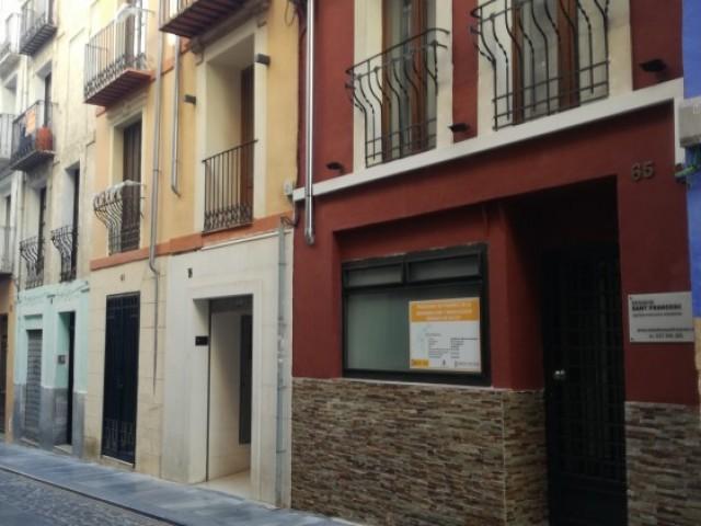 Un dels edificis ja rehabilitats al centre d'Alcoi, gràcies al pla ARRU