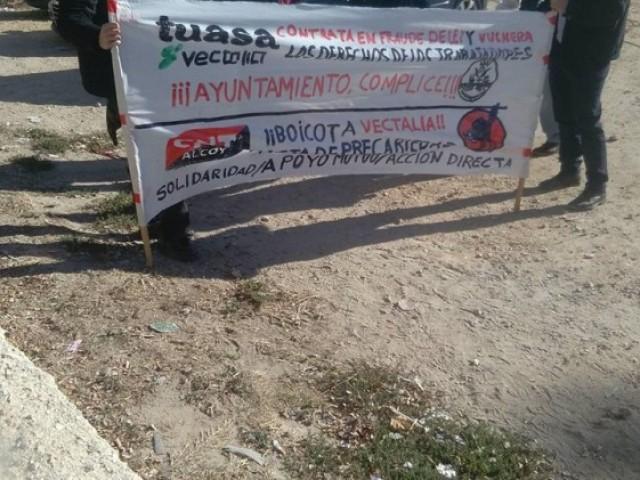 Pancarta de la CNT en una manifestació / CNT