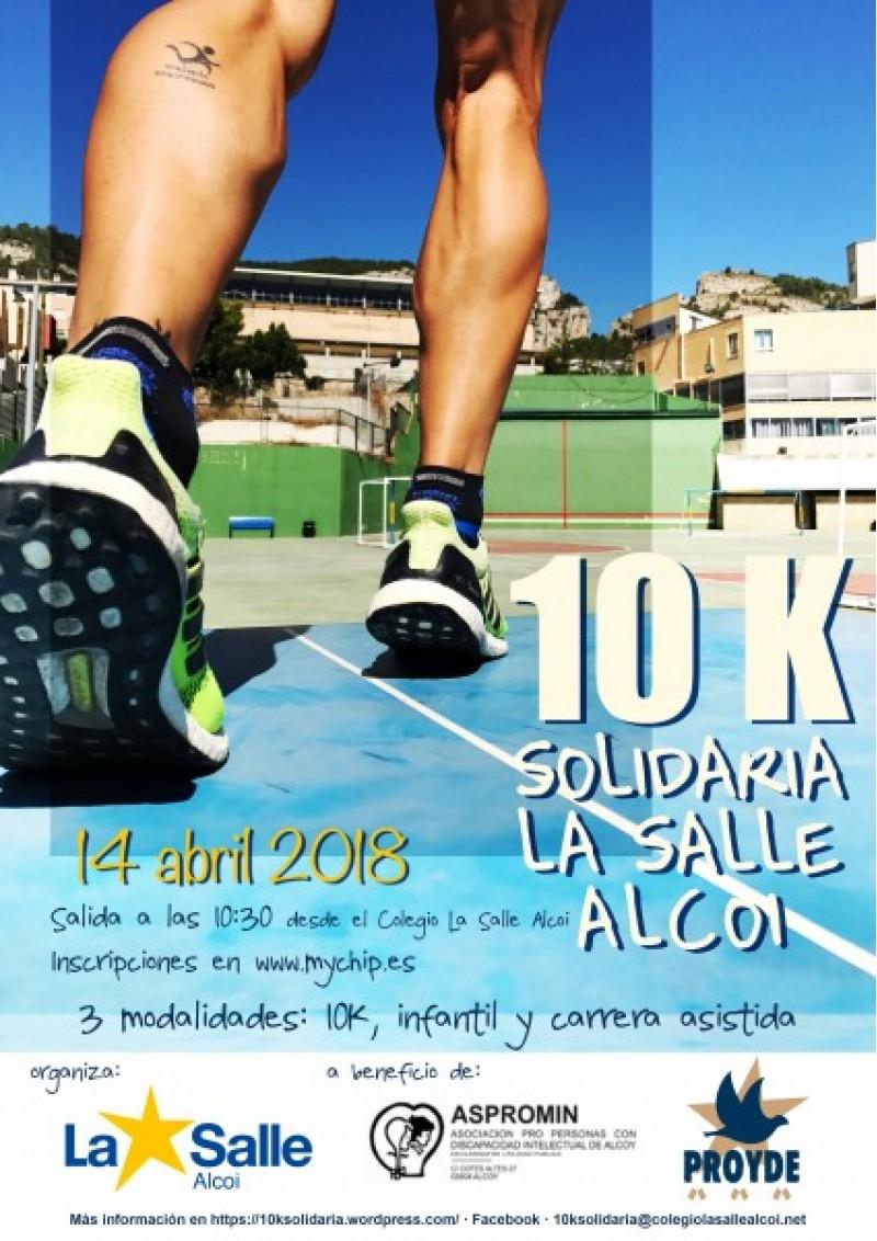 Carrera solidària a benefici d'ASPROMIN i l'ONG PROYDE organitzada pel Col·legi La Salle-Alcoi / La Salle