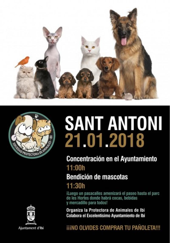 Celebració del dia de Sant Anton a Ibi / Cartell