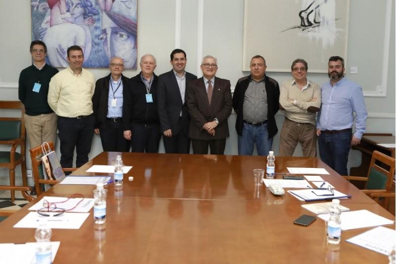 La comissió de treball encarregada de la producció del documental sobre les festes d'Alcoi 2018