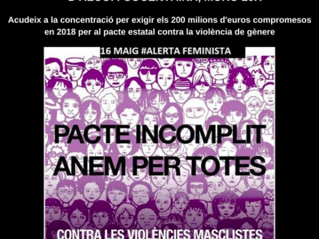 Concentracions a Muro, Cocentaina i Alcoi per l'incompliment en el pacte estatal contra la violència de Gènere