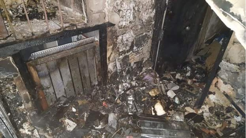 L'incendi ha calcinat l'interior de l'edifici. Imatge de la Policia Local d'Alcoi