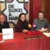 Pepa Miralles i Pepe Sellés, dos dels actors de 'De Sukei a Naima', i el director de La Dependent, Joanfra Rozalén